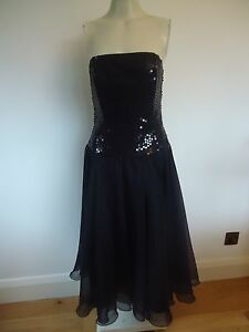 LADIES BLACK SEQUINNED COCKTAIL DRESS BY PRINCIPLES SIZE 12 UK NEW