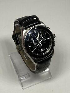 Certina Men's C0144171605100 DS First 41mm Black Dial Leather Watch