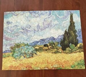 """Liberty Jigsaw Puzzle """"Wheat Field with Cypresses""""  Vincent Van Gogh 532 pieces"""