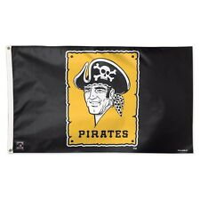 New listing Pittsburgh Pirates Cooperstown Retro Logo 3'X5' Deluxe Flag Brand New Wincraft