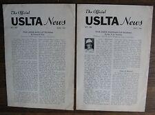 1961 USLTA NEWS (Junior Davis Cup Program, Junior Wightman Cup Program) Tennis