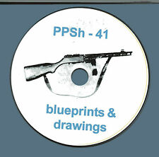 PPSh 41 LMG blueprints and drawings  on CD ROM Historian Collector