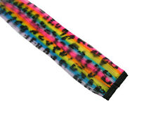 "CLIP-IN 12"" HAIR EXTENSION NEON RAINBOW LEOPARD SCENE"