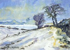 Wentworth Snow POSTCARD Steve Greaves Acrylic Art Snow Winter Scene Card Xmas