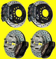 """Wilwood 11"""" Front & Rear Drilled Slotted Disc Brake Conversion Kit Ford Dynalite"""