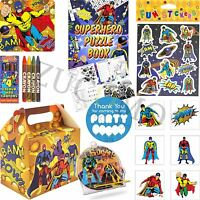 Pre Filled Boys Superhero Party Bags Box Kids Birthday Party Bags Ready