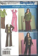 1945 Simplicity Sewing Pattern Misses Pants Skirt Top Cardigan UNCUT Khaliah Ali