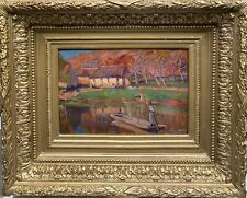 tableau ancien, ecole française - Post impressionniste Pont-Aven, 1900
