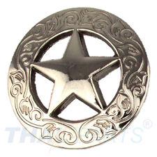 Concho #056 32mm Western Gürtel Concho geschlitzt Antik Silber Conchos Concha Reit- & Fahrsport