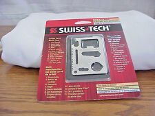 SWISS TECH CREDIT CARD MULTI- TOOL 11 USES FUNCTIONS
