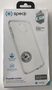 Speck Presidio Clear Series Case for Motorola Moto Z2 Force - Frost/Clear