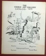 COMIC ART GALLERY CATALOG #1 (1974) Larry Shell comic book art fanzine VG+