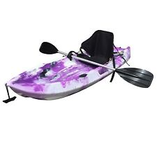 1.8M Kids Kayak Single Sit-on Touring With Seat Alloy Paddle Leash Purple Cam