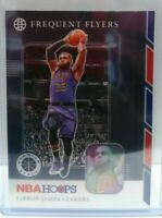 LeBron James 2019-20 NBA Hoops Premium Stock Frequent Flyers Silver Prizm #15 $