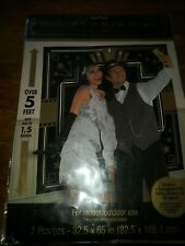New photo booth scene setter 1920s gatsby party photo backdrop black nip 5ft