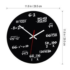 Fashion MATH CLASS Algebra Mathematical Formula Wall Clock Acrylic Battery Power