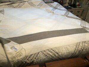 Hearth & Hand with Magnolia Soft Woven Throw Blanket ~ Gray Sour Cream Stripe