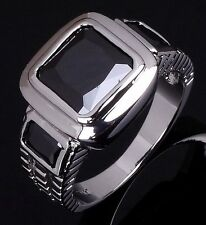 Engagement Luxury Size 11 Mens Black Sapphire Fashion 18K Gold Filled Rings