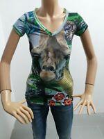 Maglia DESIGUAL Donna Taglia Size XS T-shirt Woman Maglia Manica Corta EstaT7941