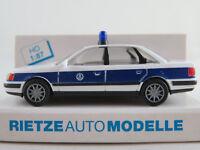 """Rietze 50424 Audi 100 Limousine (1990-1994) """"THW"""" in weiß/blau 1:87/H0 NEU/OVP"""