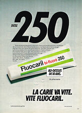PUBLICITE ADVERTISING 045  1982  LABORATOIRE GOUPIL FLUOCARIL BI-FLUORE dent 2