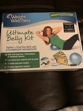 Weight Watchers Ultimate Belly Kit DVD/w mini stability ball 4 Complete Workouts