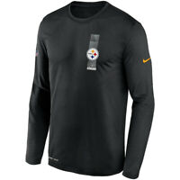 Pittsburgh Steelers Nike Sideline Playbook Travel Legend Dri-FIT Long T-Shirt