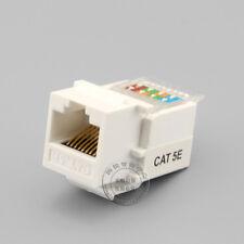 White CAT5E network socket Module,Free Wire Bonding CAT5E RJ45 Module