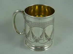 PRETTY sterling  silver CHRISTENING MUG, 1926, 71gm
