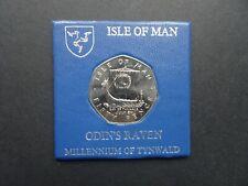 QEII Isle of Man Odins Raven 50p Cinquante Pence Coin daté du 1979 UNC