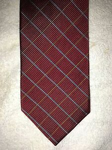 ROBERT TALBOTT MENS TIE 4 X 60 RED WITH BLUE AND GOLD
