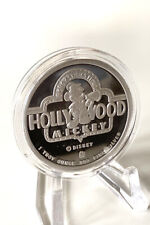 Solid Silver - 1 Troy Ounce - Disney's Hollywood Mickey 1990's Coin  - MINT