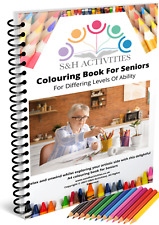 Senior Colouring Book(57 Pictures) Dementia/Alzheimers Activities Product