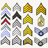 US ARMY RANK PATCH SHOP - Single Patches £1.95, Pair £2.95 + Free Post, UK STOCK