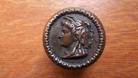 "Antique Cast Bronze ""Lady with Bonnet"" Doorknob Door Knob c1870 - MCC Co. Rare"
