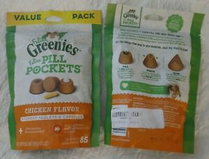 Greenies Pill Pockets Chicken Capsule Size for cats 6 oz. - 170 count *2 Bags!