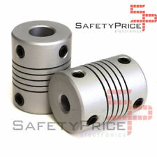2x Accoppiamento Flessibile 5mm 8mm asse Z Axis Motore Coupler 3D STAMPANTE
