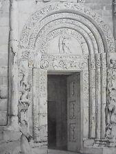 Porte de  ST MICHEL de  PAVIE ITALIE GRAVURE ARCHITECTURE MOYEN AGE XIXéme