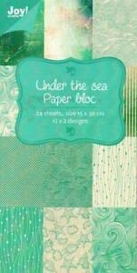 Joy Crafts - Paper Bloc 15cm x 30cm - Under The Sea 6011/0307 - 24 Sheets