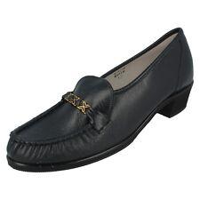 Mujer Kirsty AZUL MARINO DE PIEL SIN CIERRES Plano Zapato Talla 36 de sandpiper