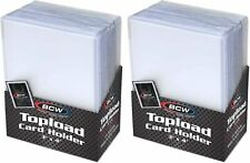 Trading Card Sleeves Hard Plastic Clear Case Holder 50 Baseball Cards Topload