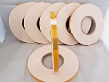 5m WHITE CLOSED CELL DOUBLE-SIDED FOAM TAPE, 12x4mm x 5m, HOB FIXING etc