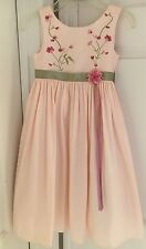 Girls Dress Cinderella Size 4 Peach Green Easter Wedding Flower Girl