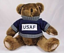 Brown Teddy Bear wearing USAF Sweater Camo Ears & Feet Stuffed Animal Plush 13""