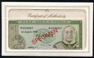 Tonga 1978, 1 - 10 Pa'anga, Specimen Set ( 4 PCS),CS1, All UNC