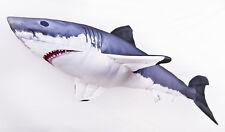 GABY DER WEISSE HAI Stofftier120cm Plüschtier Kuscheltier Fisch Kissen Polyester