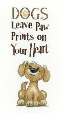 HERITAGE CRAFTS PAW PRINTS PUPPY DOG  COUNTED CROSS STITCH KIT PETER UNDERHILL