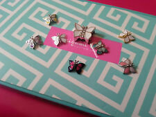 ORIGAMI OWL Teal and Opalescent Butterfly 8pc CHARM Set EXTREMELY RARE!!!