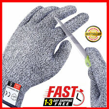 1 Pair Cut Resistant Gloves Protective Level 5 Certified Safety Cut Wood Carving