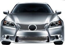 FITS LEXUS GS350 2013 2014 STAINLESS CHROME MESH GRILLE TOP BOTTOM INSERTS